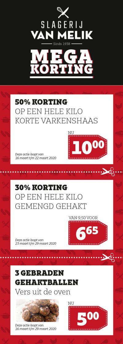 Slagerij Van Melik_Megakorting_maart2020